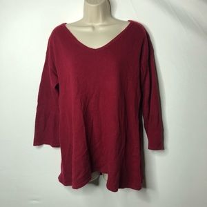 Wythe NY red cashmere sweater top L A5